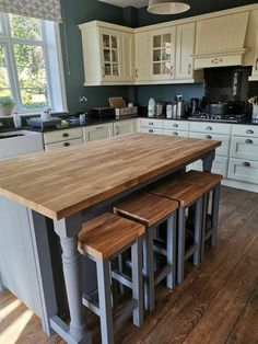 Kitchen Island Dining Table, Narrow Kitchen Island, Farmhouse Kitchen Island, Kitchen Island With Seating, Diy Kitchen Island Extension, Country Kitchen, Dining Room, Pictures Of Kitchen Islands, Kitchen Pictures