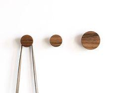 Wall Hooks Walnut Hook Coat Wooden Modern