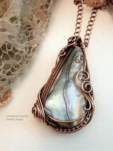 Wire Wrapped Abalone Sea Shell Reversible Pendant Necklace