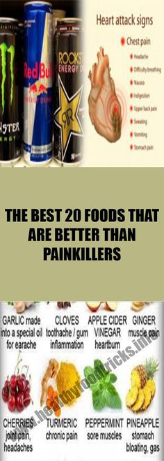 THE BEST 20 FOODS THAT ARE BETTER THAN PAINKILLERS – Healthy Food Tricks