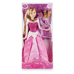 """Disney Store Princess Aurora with Squirrel 12"""" Classic Doll New with Box"""