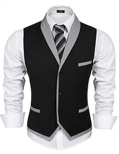 Find JINIDU Men's Suit Vest Slim Fit V Neck Dress Waistcoat Business Wedding Vests online. Shop the latest collection of JINIDU Men's Suit Vest Slim Fit V Neck Dress Waistcoat Business Wedding Vests from the popular stores - all in one Wedding Vest, Wedding Waistcoats, Plaid Wedding, Waistcoat Men, Mens Suit Vest, Mode Man, Workout Vest, Sleeveless Jacket, Frack