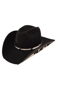 4a73105754e Charlie 1 Horse Chisolm Black Felt Cowboy Hat Western Hat Styles