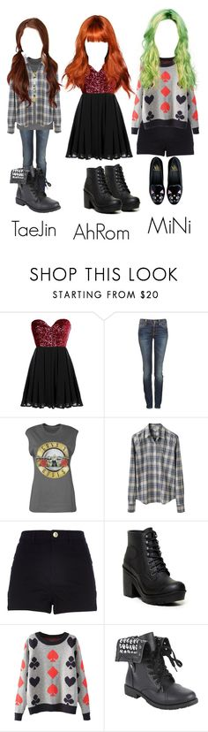 """""""""""The Love"""" music video"""" by bluevelvetoffical ❤ liked on Polyvore featuring Nudie Jeans Co., Boohoo, Steven Alan, River Island, Hunter and Hot Topic"""
