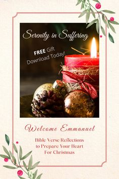 FREE Download! Bible Reflections to prepare your heart for Christmas! #serenityinsuffering #advent #bibleverses #peace #hope #christmas