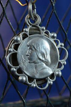 Saint Joan of Arc Vintage Religious Medal by CherishedSaints, $98.00