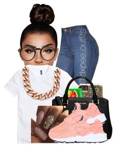 """""""chill day"""" by dxpe-outfits ❤ liked on Polyvore featuring Case-Mate, Luv Aj, MICHAEL Michael Kors, NIKE and Moscot"""