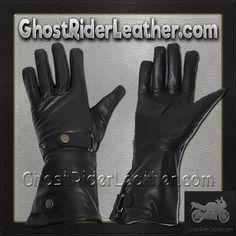 Long Leather Summer Riding Gauntlet Gloves / SKU GRL-GL2064-DL