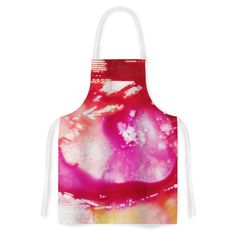 Kess InHouse Malia Shields The Color River II Pink Red Artistic Apron