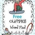 Free Winter Olympic Events Word Find UPDATED 1/16/2014 14 of the 15 Olympic events are included in this word find.  Pages include: Page 4 Student w...