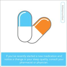 If you start a new medication and notice a change in your sleep quality, consult your doctor. Some medications may affect the quality of your sleep