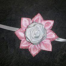 Pierka - Náramok pre družičky biela ružička - 8054767_