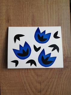 Blue china inspired note cards Memandlulus.etsy.com
