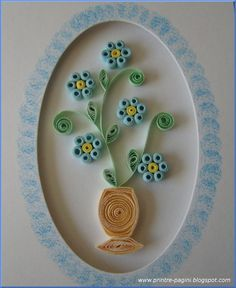 A short post with my new card, blue flowers in a vase. They were intented to be forget-me-not flowers:) The paper I used is still cut with m...