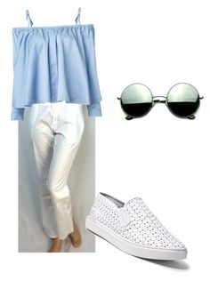"""James Perse pants"" by gabrielle-smith-almagor on Polyvore featuring Sandy Liang, Steve Madden and Revo"