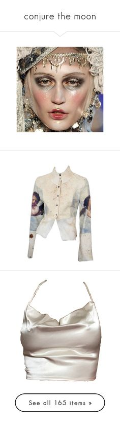 """conjure the moon"" by rojinnn ❤ liked on Polyvore featuring outerwear, jackets, tops, coats, leather jackets, 100 leather jacket, real leather jackets, moschino jacket, moschino and blouses"