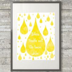 Where Troubles Melt Like Lemon Drops 11x14 Watercolor Printable Poster on Etsy, $9.00