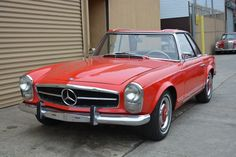 This 1964 Mercedes 230SL is a good original driver in need of paint work and minor cosmetics. It runs and drives. It also comes with two tops, a 4-speed transmission, original clock, tools, radio, and spare. Needs floor work. Red with red interior. For only $27,500 #gullwingmotorcars #classiccars #buy&sellclassiccars #VintageCarBuyer #ClassicCar #antiqueCarBuyer #Mercedes-Benze #1964Mercedes230SL