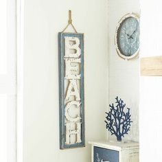 Best coastal wall decor and beach themed wall art for your home. We have some of the absolute best beach style wall decorations including canvas art, wall art, metal art, wooden beach signs, and more. Coastal Wall Decor, Beach Wall Decor, Coastal Living, Wall Decor Design, Wall Art Designs, Hanging Signs, Wall Signs, Beach Signs Wooden, Porch Wall