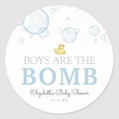 Bath Bomb Baby Shower Rubber Duck Favor tag