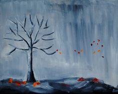 Bare16x20 Original Tree Oil Painting by larainy on Etsy,