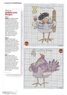 Pássaros engraçados / Bordados / Cross Stitch