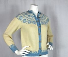 Vintage 50s 60s Norwegian Hand Knit Fair Isle by FireflyVintage, $70.00
