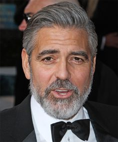 Male Celebrity Hairstyles - George Clooney Haircut
