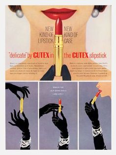 I love how elegant lipstick tubes were in the 30s, 40s and 50s. (via…