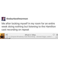 Wow I'm listening to Hamilton right now