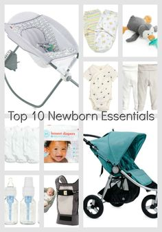 Top 10 newborn essentials // Having a baby? Add these to your baby registry!