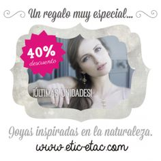 40% de descuento en joyas  / Etiquetas para marcar la ropa  | ETIC-ETAC