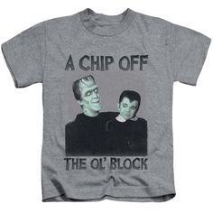 Munsters/Chip Short Sleeve Juvenile T-Shirt in Athletic Heather