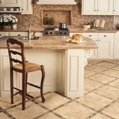 10 Small Kitchens We Love: Small Kitchen Idea: Keep Floor Tile Large And  Light . I Love This Kitchen, Not Too Light, Not Too Dark And The Style  Would Still ...