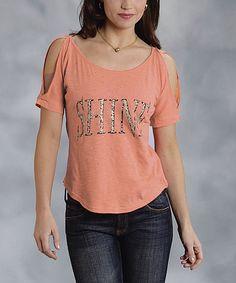 Look at this #zulilyfind! Orange & Black 'Shine' Cutout Top - Women & Plus #zulilyfinds