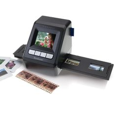 Digitize 35mm slides and negatives in seconds--no computer needed!  I so need this for all of Dad's old slides