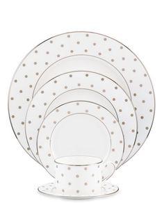Kate Spade polka dot dinnerware set  http://rstyle.me/n/qf6nwpdpe