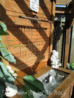 Re-purposed water feature