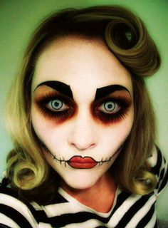 halloween makeup scary dead puppet special fx gory gothic makeup avant