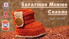 Sapatinhos de Crochê Menino Charme, Aulas de Crochê Com a Professora Simone Eleotério