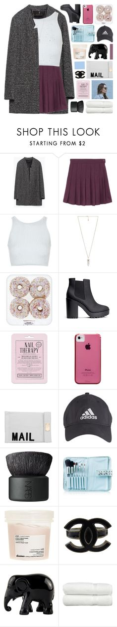 """""""you and i go rough"""" by jewell-e ❤ liked on Polyvore featuring Zara, Topshop, Amber Sceats, H&M, Love 21, Case-Mate, Akira, adidas, NARS Cosmetics and Senna Cosmetics"""