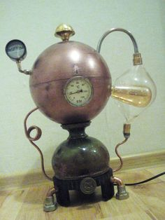 Lampa Steampunk - Salamander