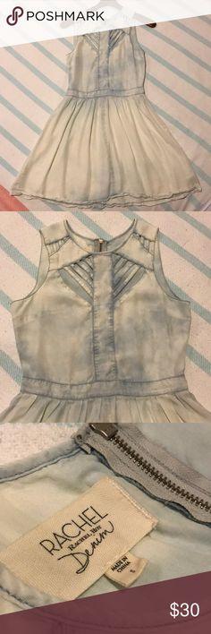 Denim Dress Barely worn light blue distressed denim dress by Rachel Roy Rachel Roy Dresses Mini