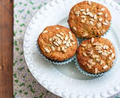 Sunflower seeds, carrots, zucchini healthy muffins