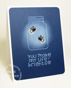 Card by PS DT Heidi Van Laar using the PS Crystal Clear and Giddy Bug stamp sets