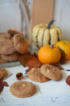 Ninas kleiner Food-Blog: Kürbis-Zimt-Kekse mit weißer Schokolade