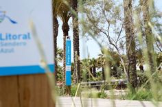 Señalización senda Azul del Grao de Castellón Interior Exterior, Blue