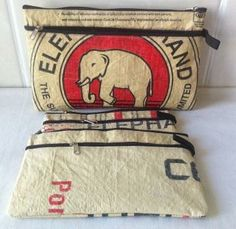 Eco-friendly Pencil case (a set of 3), ethically handcrafted by disabled home based workers.#fairtrade#handmade#eco-friendly#recycle