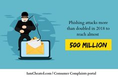 Phishing attacks more than doubled in 2018 to reach almost 500 million. To Reach, Infographics, Information Graphics, Infographic, Info Graphics