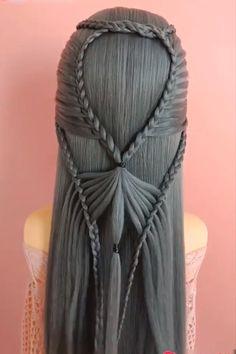 Diy Beauty Makeup, Hair Makeup, Hair Beauty, Kawaii Hairstyles, Cute Hairstyles, Beehive Hair, Hair Videos, Makeup Videos, Braids For Kids
